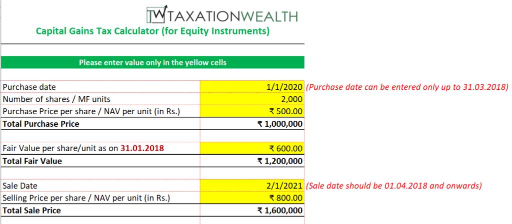Capital Gains Tax Calculator - Taxationwealth